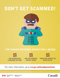 Beware of Scammers posing as CRA Representatives